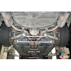 Jaguar S-Type 3.0 V6 99-08 UltraRacing Rear Lower Bar 1405