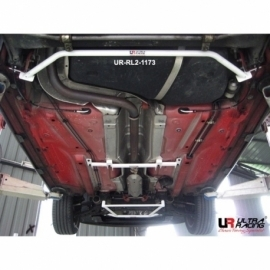 Audi A1 10+  UltraRacing 2-Point Rear Lower Tiebar 1173